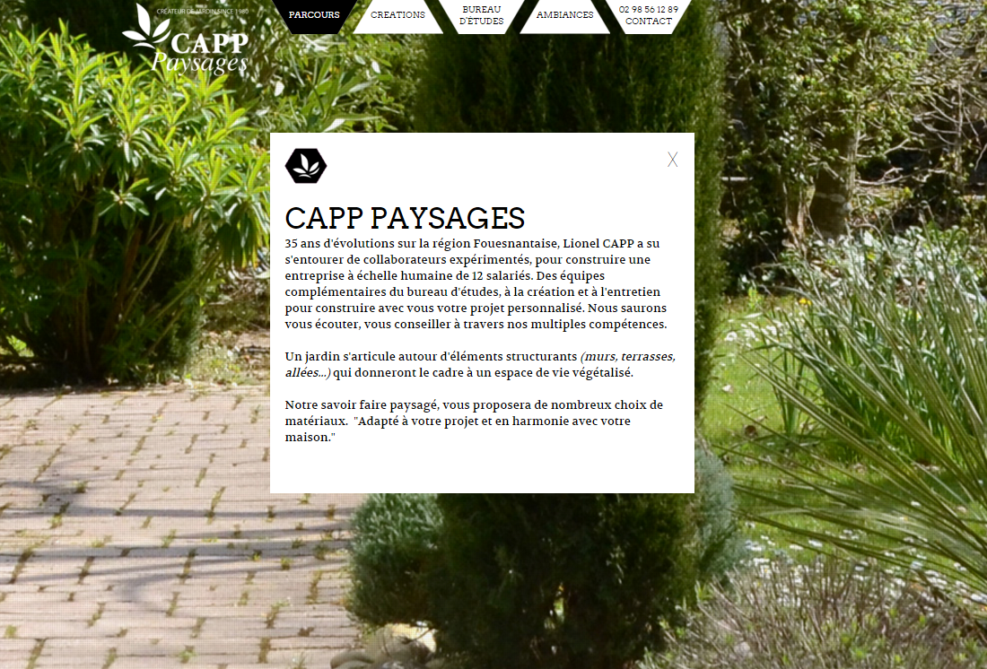 Webexpert office accueil for Capp paysage