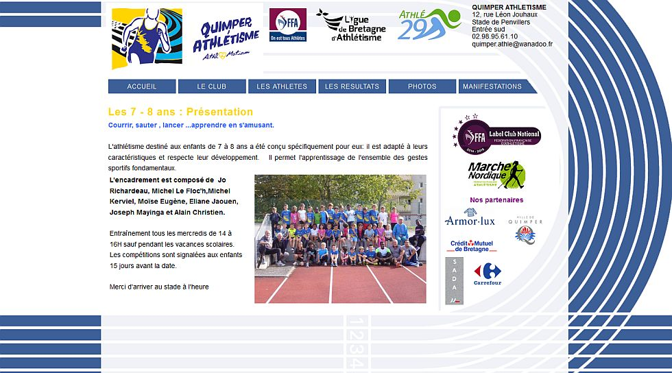 Association sportive d'athletisme a Quimper